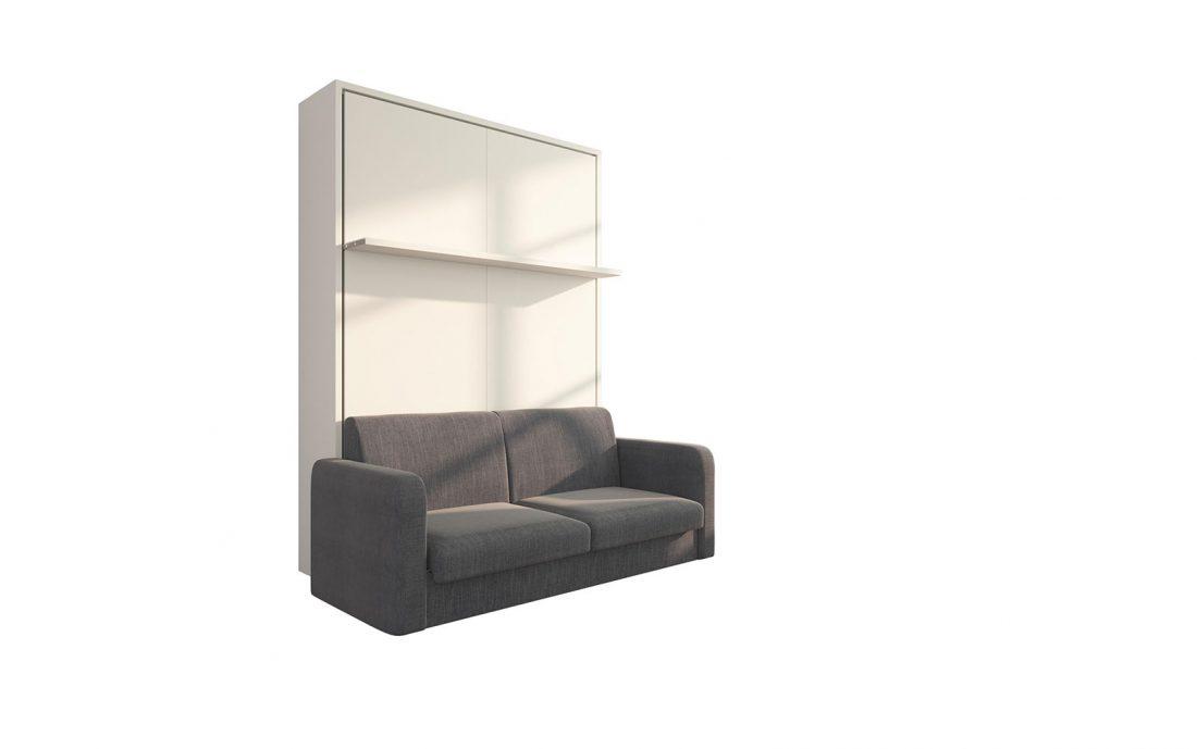 Brezza 140 - Struttura divano letto 2 piazze alla francese con mensola a movimento facilitato