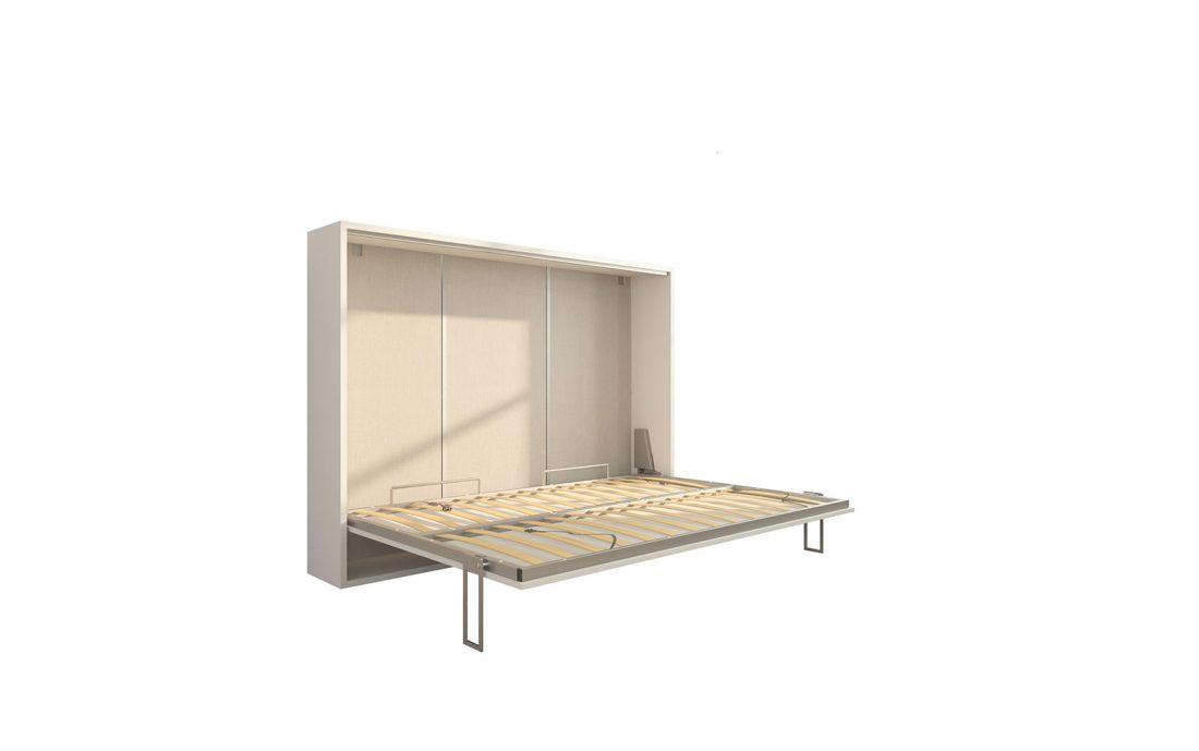 Piuma 140 Orizzontale - Mobile letto a scomparsa da due piazze con rete 140 x 200 cm