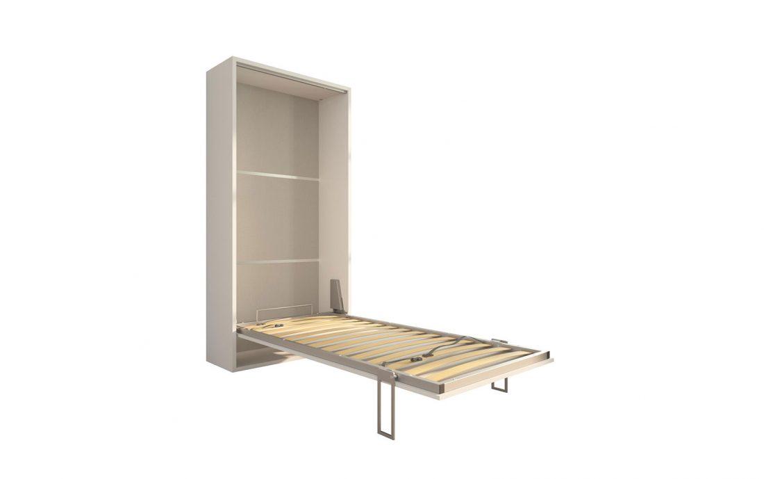 Piuma 90 - Letto convertibile singola piazza con rete in doghe di legno di faggio 90 x 200 cm