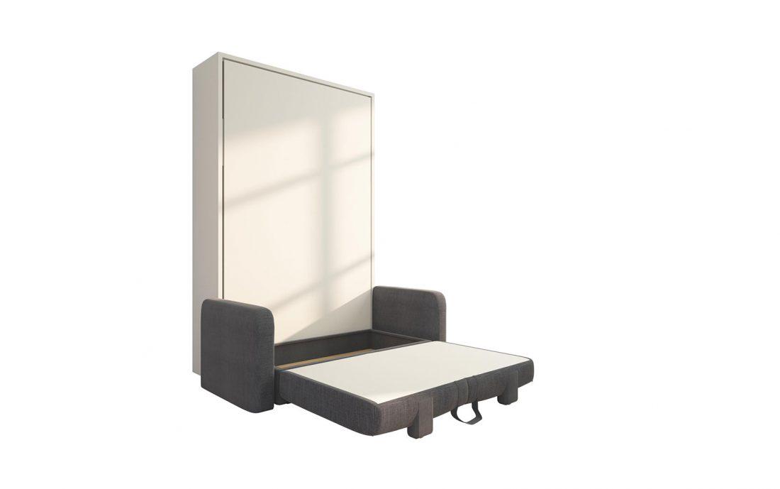 Piuma Sofa 120 Big - Divano letto convertibile da 1 piazza e mezzo due sedute con contenitore e materiali di qualità