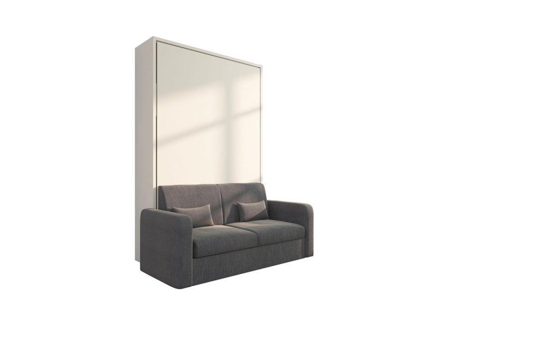 Piuma Sofa 120 Big - Letto convertibile da 1 piazza e 1/2 verticale con divano 2 posti