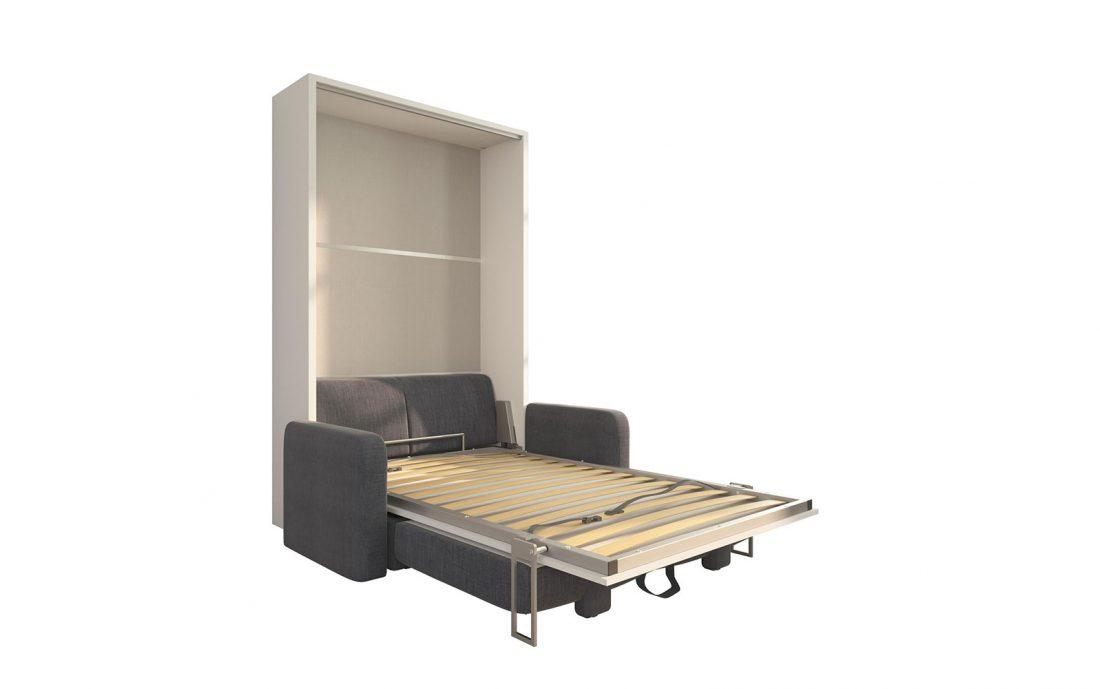 Piuma Sofa 120 Big - Divano due posti con contenitore e letto convertibile da una piazza e mezzo abbinato