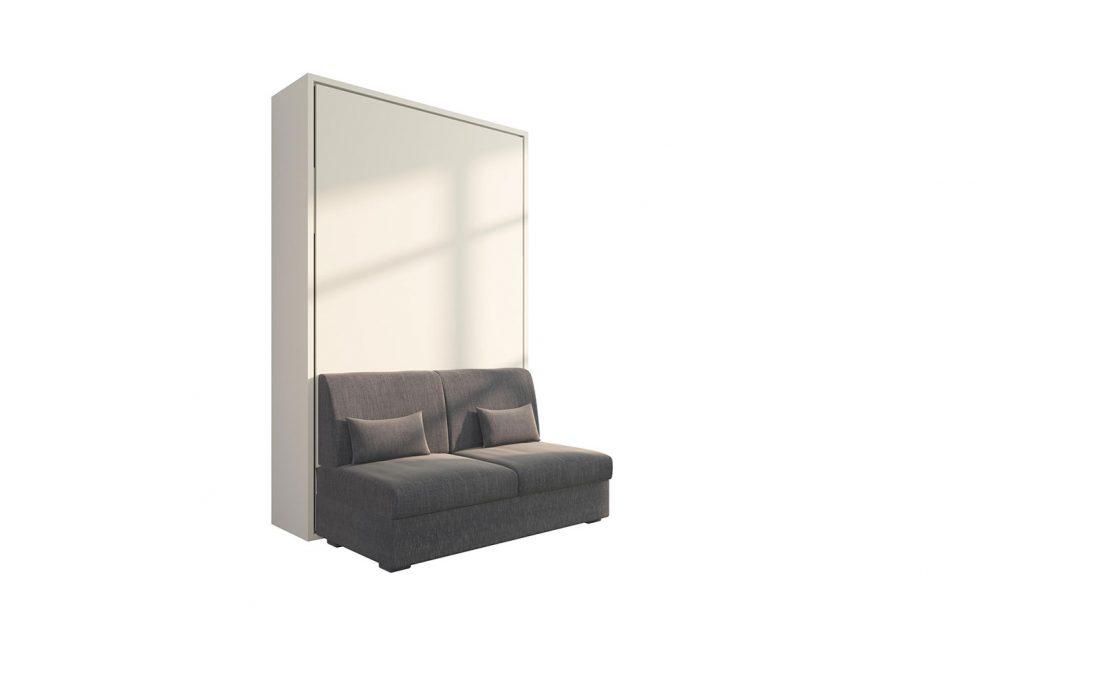Piuma Sofa 120 Easy - Divano letto da una piazza e mezzo due sedute con cuscini sfoderabili