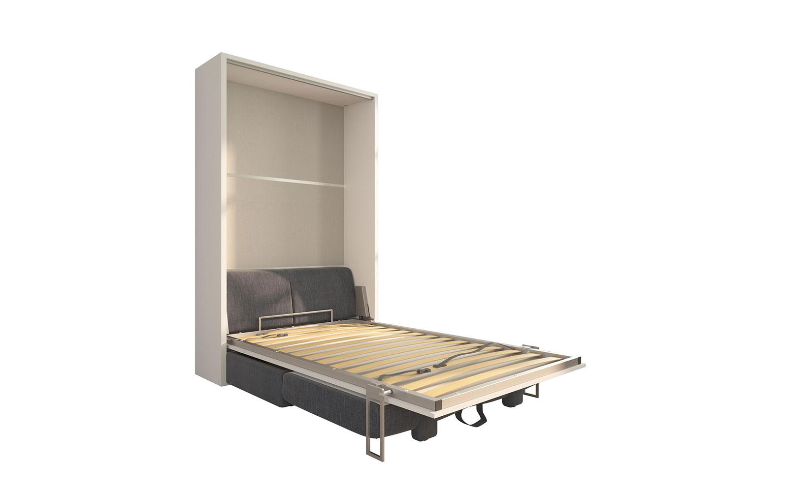 Letti Per Ospiti Salvaspazio piuma sofa 120 easy - letto piazza e mezzo a scomparsa con divano  contenitore