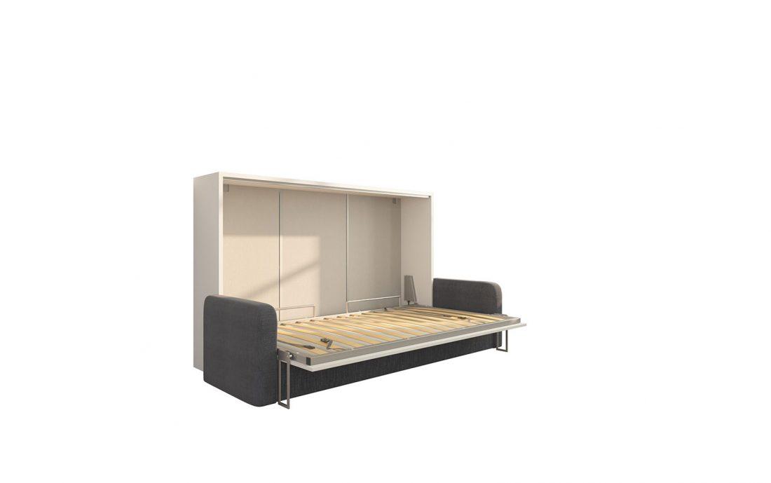 Piuma Sofa 120 Orizzontale - Letto convertibile a una piazza e mezzo con rete in doghe 120 x 200 cm e divano 4 posti