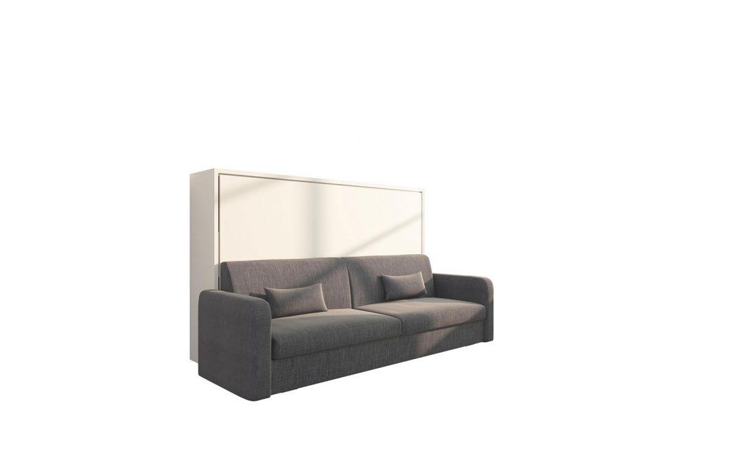 Piuma Sofa 120 Orizzontale - Letto a scomparsa orizzontale da una piazza e mezzo con divano quattro posti