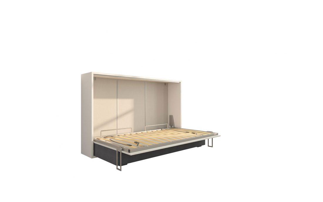 Piuma Sofa 120 Easy Orizzontale - Letto da una piazza e mezzo a scomparsa con ampio divano 4 posti e rete in doghe
