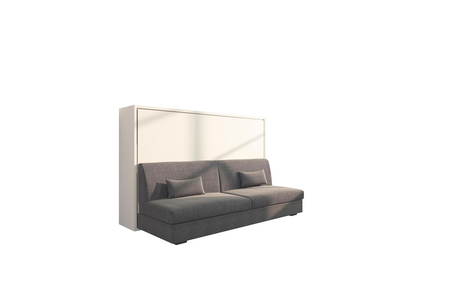 Letti Per Ospiti Salvaspazio piuma sofa 120 easy - letto a scomparsa orizzontale con divano quattro posti