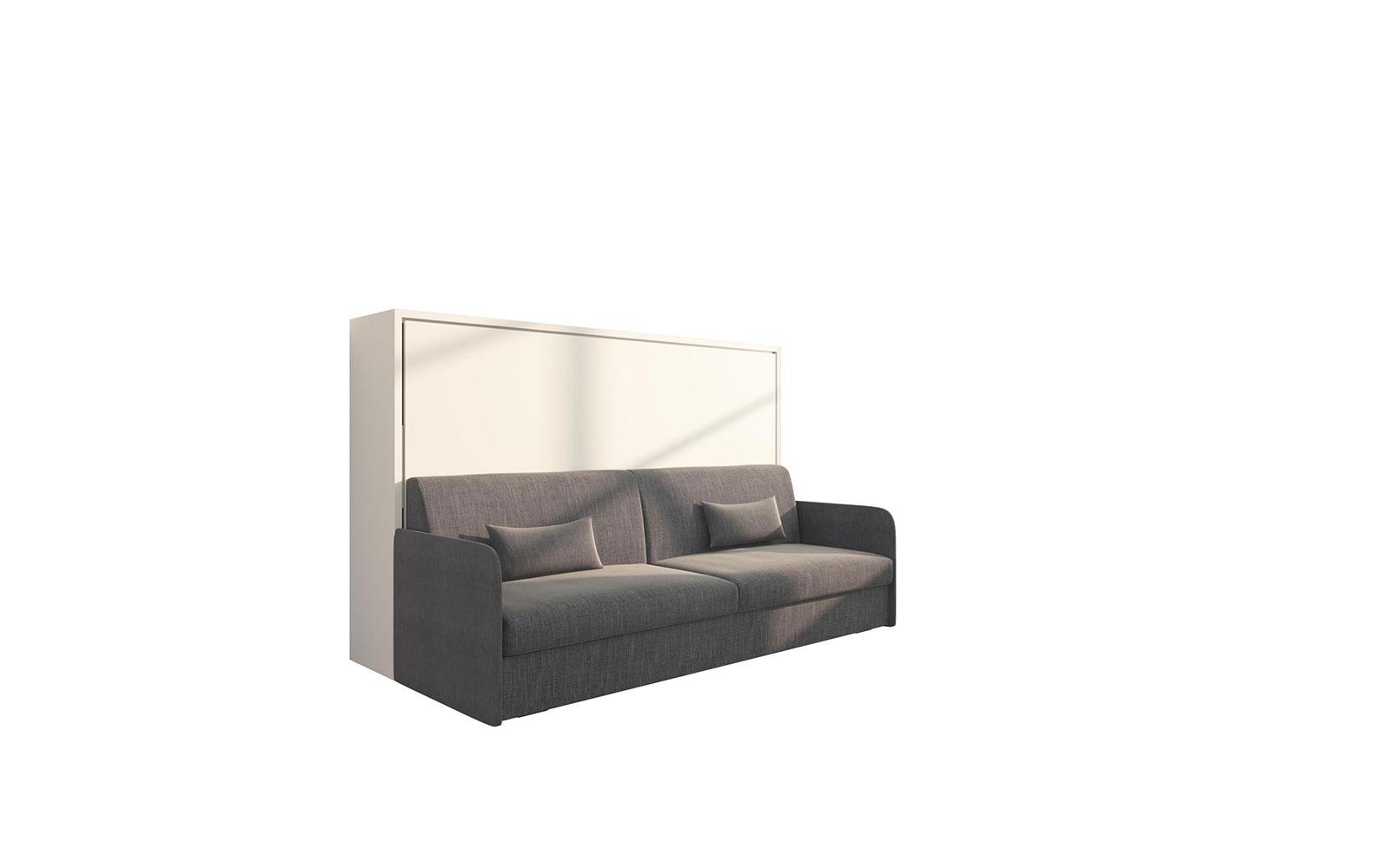 Piuma Sofa 120 - Letto orizzontale a scomparsa con divano bracciolo Slim  salvaspazio