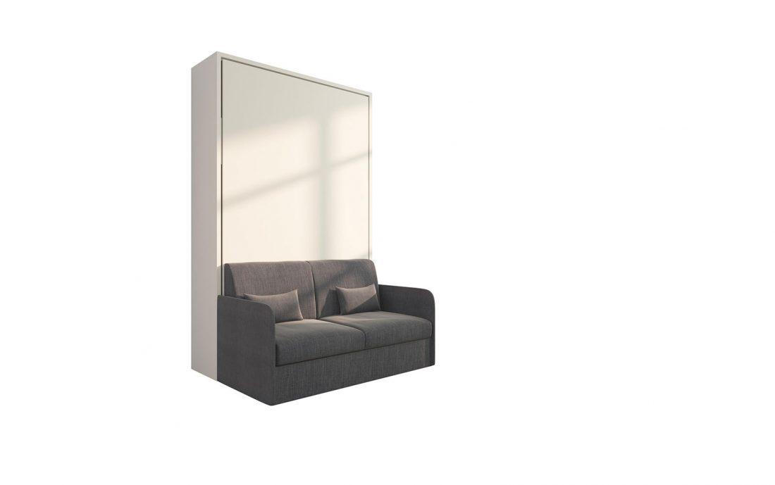 Piuma Sofa 120 Slim - Letto convertibile da una piazza e mezzo con divano 2 posti di dimensioni compatte