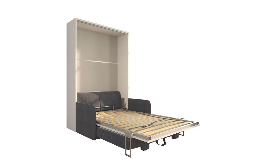 Piuma Sofa 120 Slim - Divano letto da una piazza e mezzo due sedute con contenitore