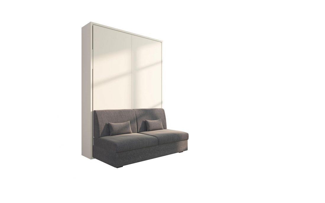 Piuma Sofa 140 Easy - Letto a scomparsa due piazze con divano 2 posti con 2 cuscini