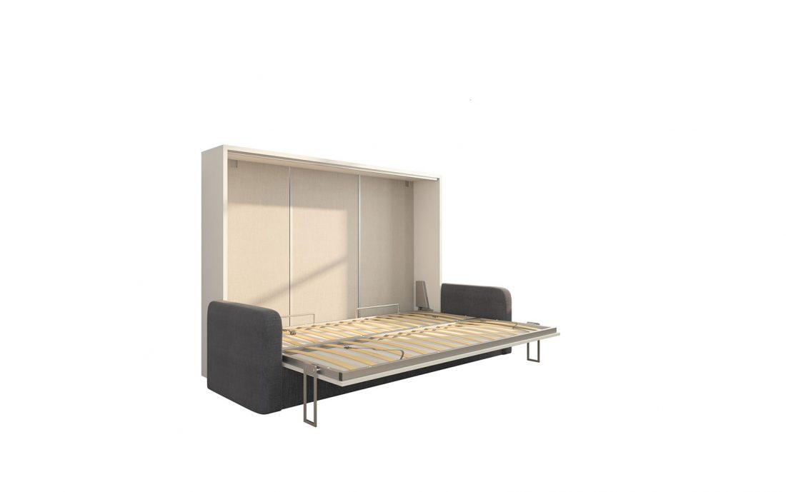 Piuma Sofa 140 Orizzontale Big - Divano letto a scomparsa da due piazze con rete da 140 x 200 cm