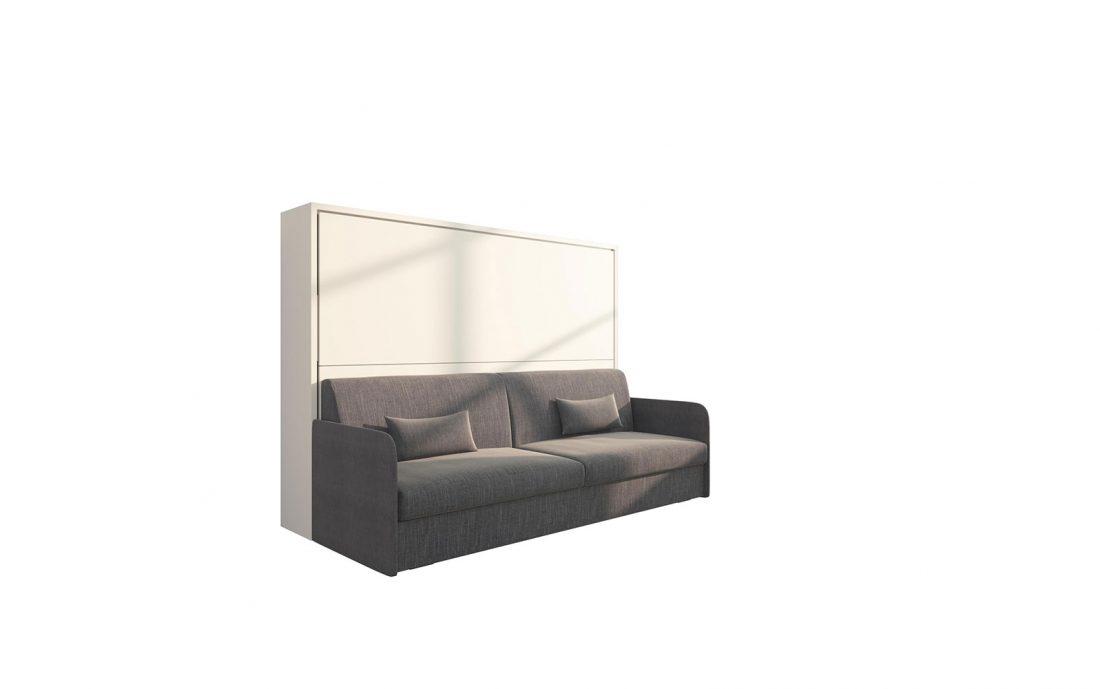 Piuma Sofa 140 Orizzontale Slim - letto a scomparsa due piazze alla francese con divano 4 posti