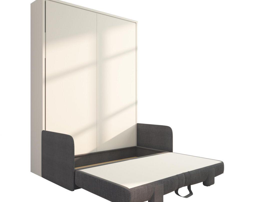 Piuma Sofa 140 - Letto a scomparsa alla francese con divano due posti contenitore