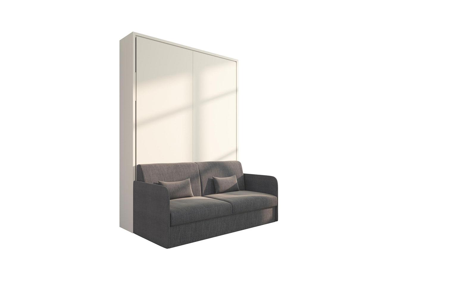 Piuma Sofa 140 Slim - Letto a scomparsa 2 piazze con divano contenitore  salvaspazio
