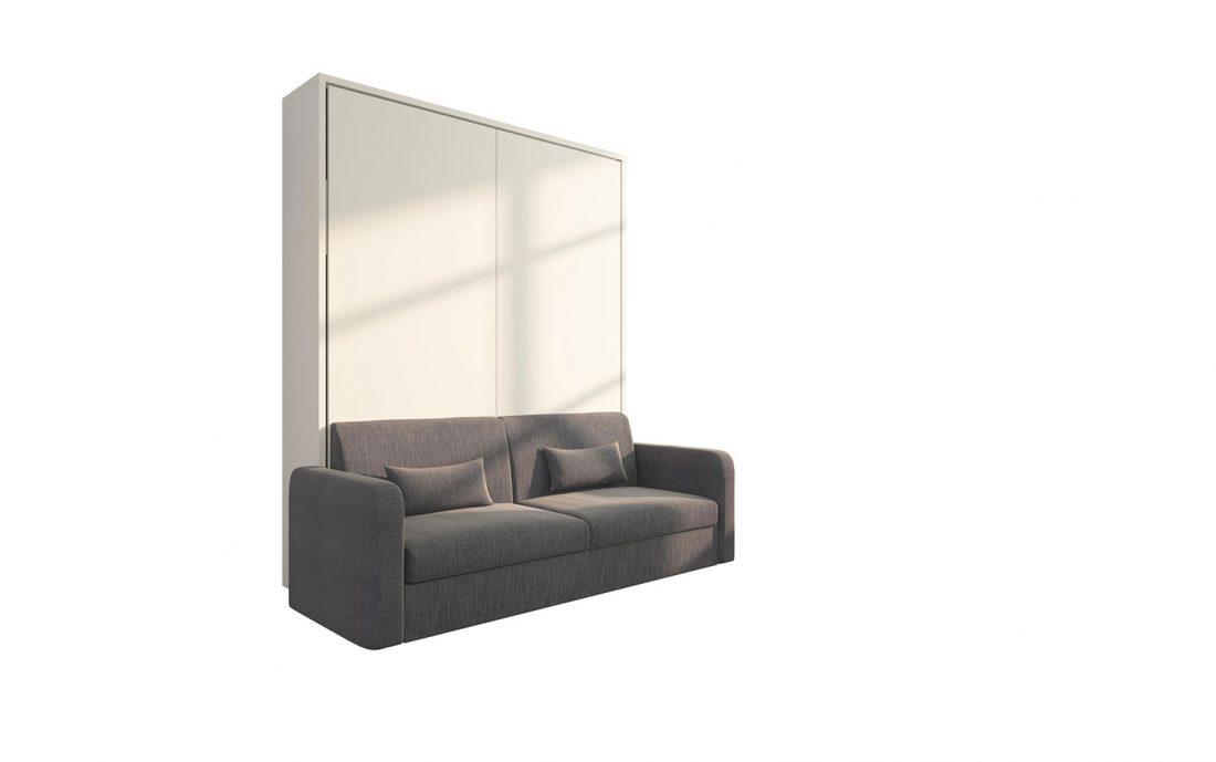 Piuma Sofa 160 Big - Letto a scomparsa matrimoniale con divano tre posti, chiuso