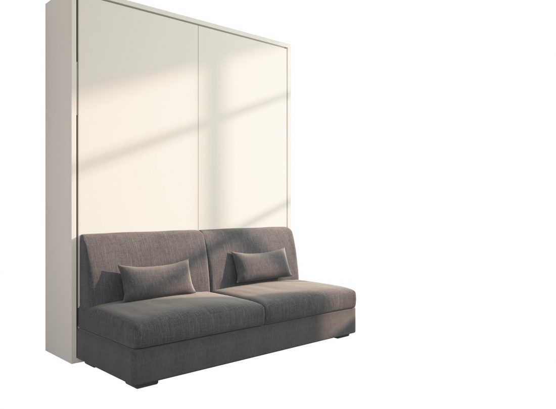 Piuma sofa 160 letto a scomparsa matrimoniale con divano for Divano letto 160