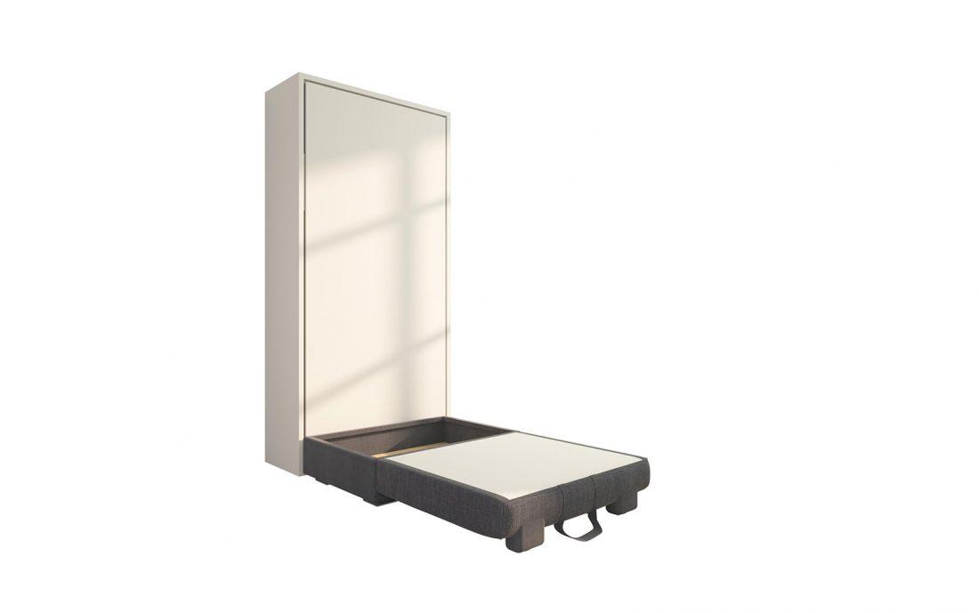 Piuma Sofa 90 Easy - Poltrona letto con rete in doghe 90 x 200 cm e contenitore