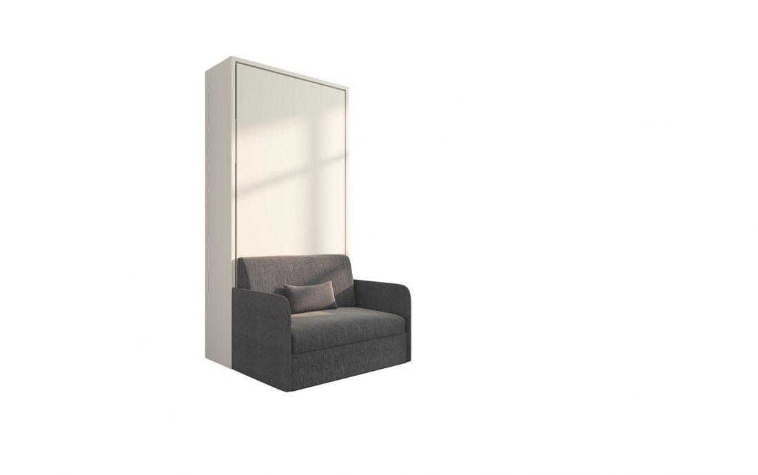 Piuma Sofa 90 Slim - Poltrona letto singola piazza con braccioli sottili adatta a piccoli spazi