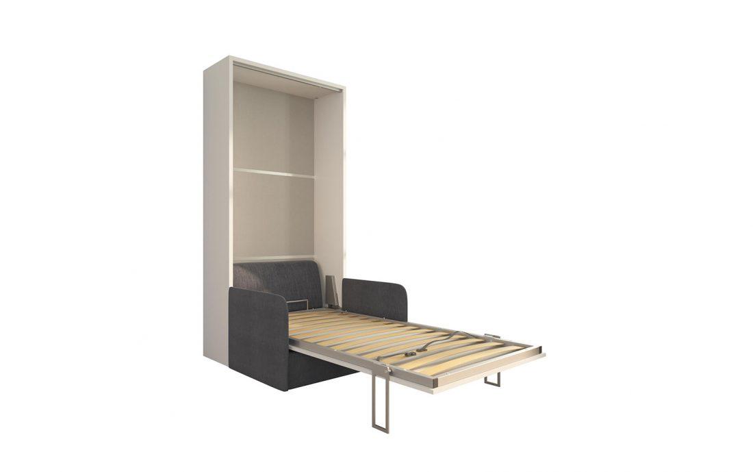 Piuma Sofa 90 Slim - Poltrona letto singolo con braccioli sottili adatta a camerette e spazi stretti