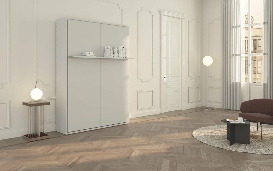 Il design moderno e impeccabile del letto a scomparsa con mensola chiuso