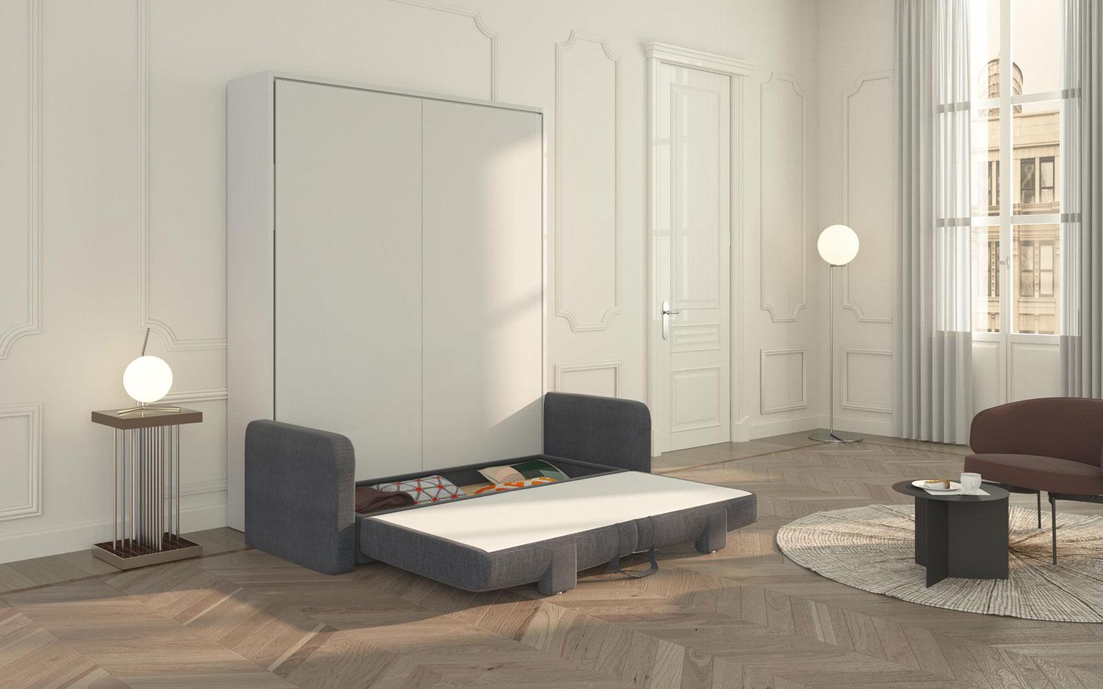 Mobile Contenitore Letto.Piuma Sofa 160 Mobile Letto Con Divano Contenitore Matrimoniale Big