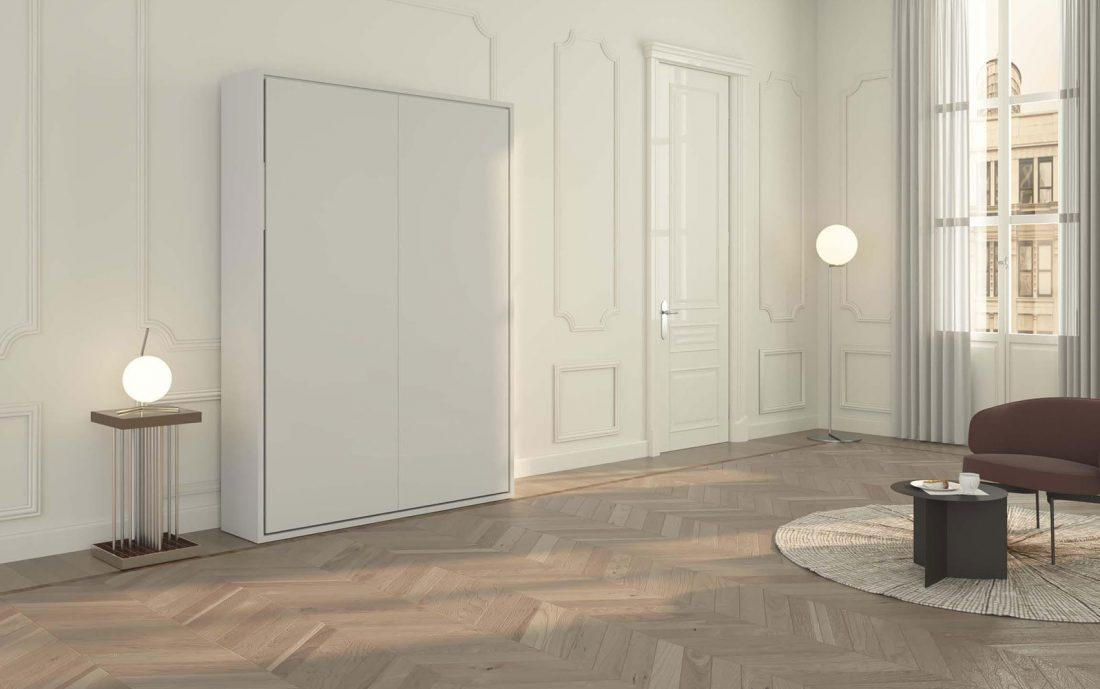Il mobile letto a parete chiuso ha una solida struttura in legno spesso fino a 38mm