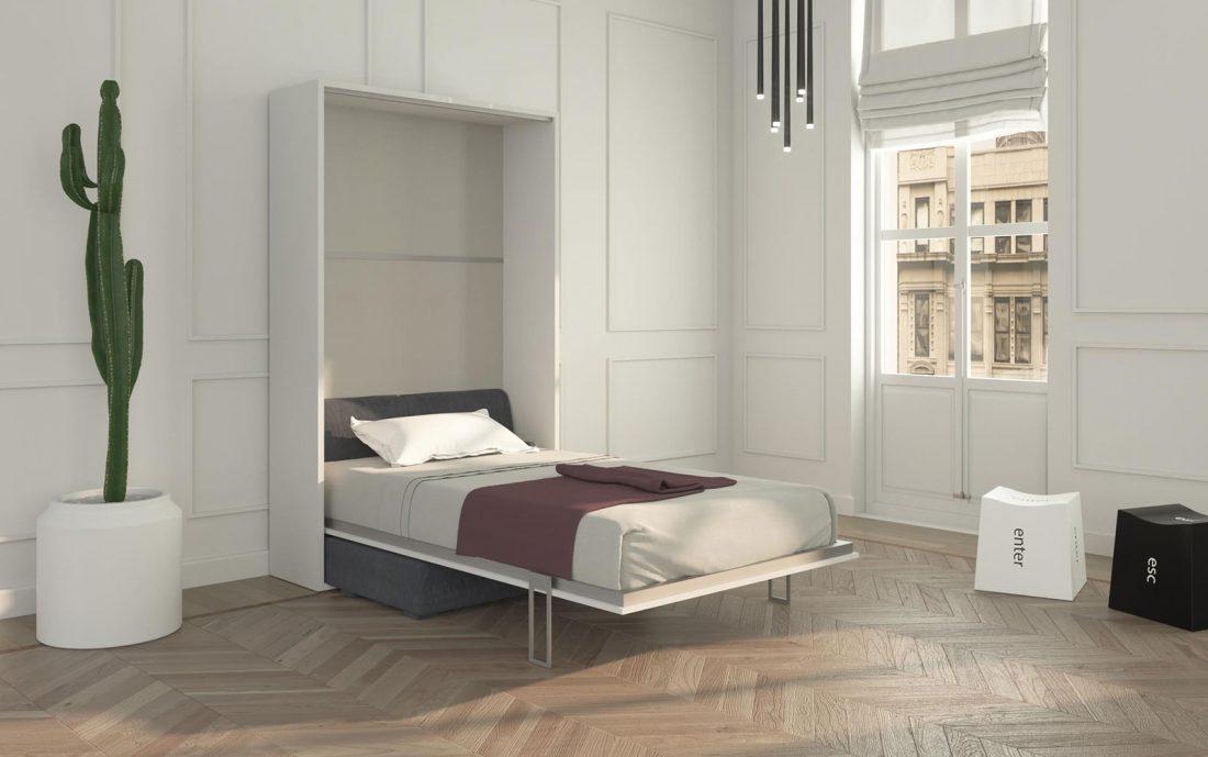Solida struttura letto aperta per sostenere materassi commerciali alti fino a 24 cm