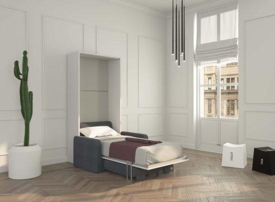 Piuma Sofa 90 – Mobile letto con poltrona contenitore braccioli Big