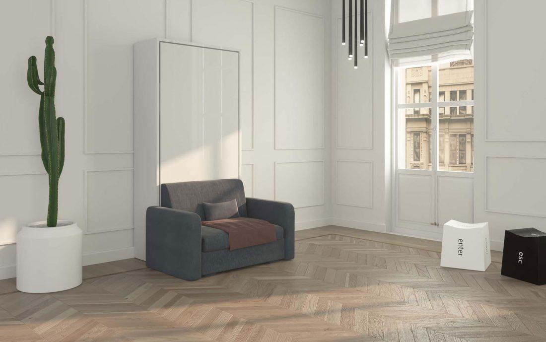 Piuma Sofa 90 verticale - Letto a scomparsa con divanetto