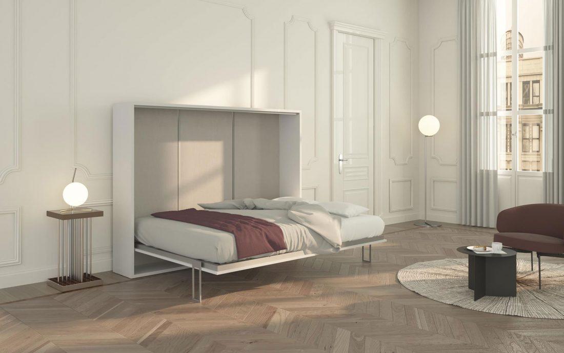 Il letto aperto Piuma 140 Orizzontale con un comodo materasso alto fino a 24cm