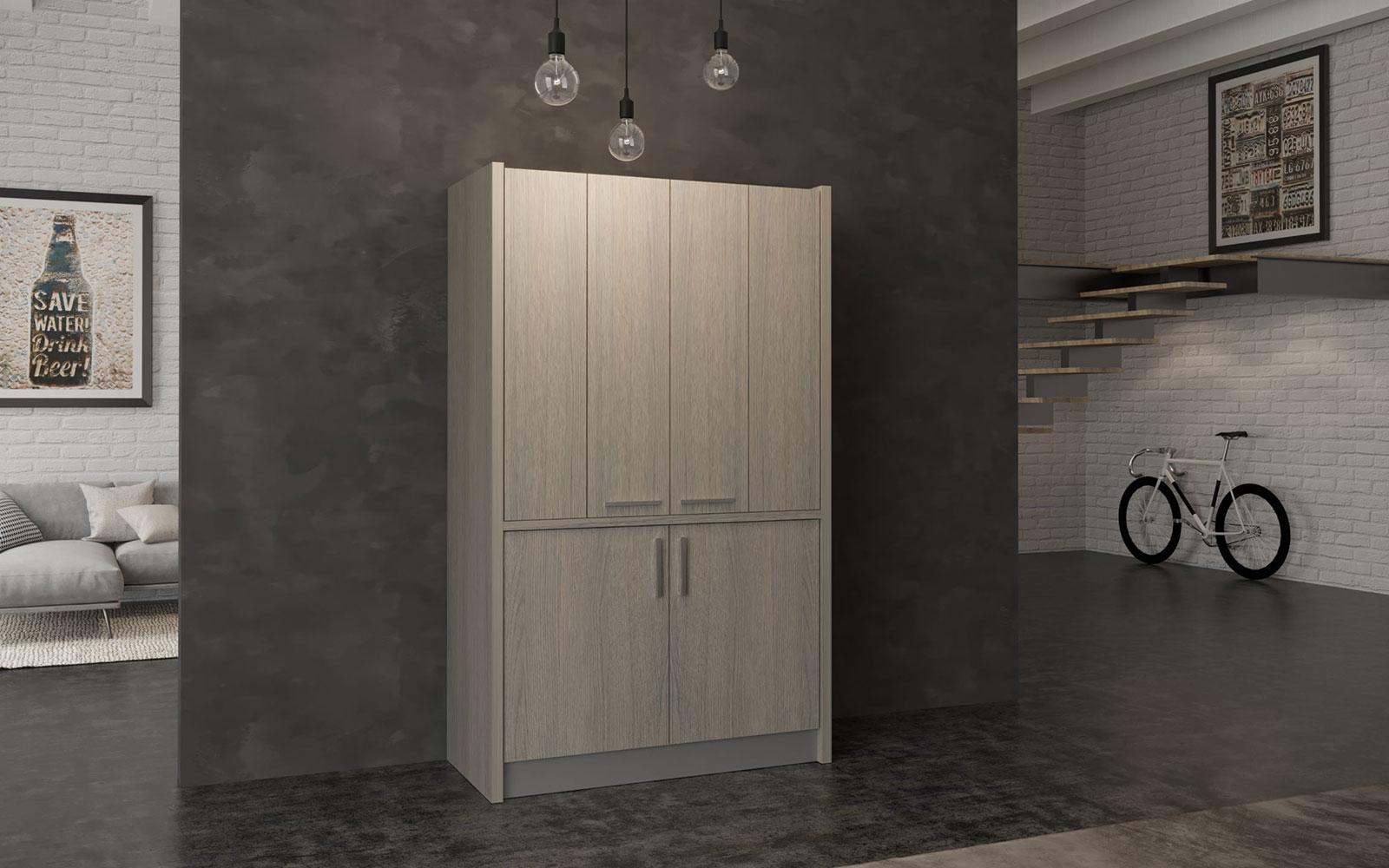 Brianza SX - Cucina a scomparsa con ante tipo dispensa in meno di 1 metro e  mezzo