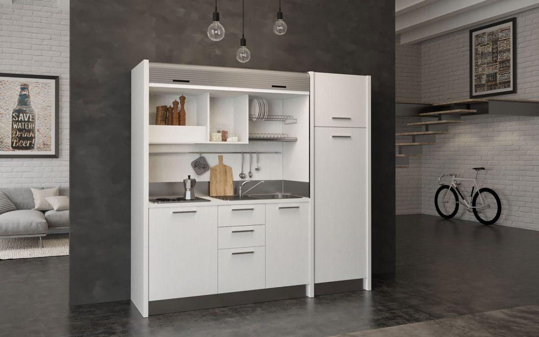 Gallura - cucina monoblocco a scomparsa completa