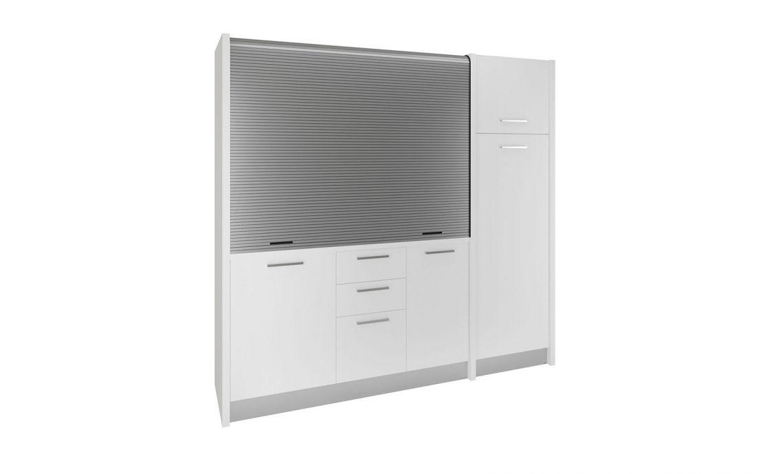 Conero - cucina a scomparsa con frigorifero grande