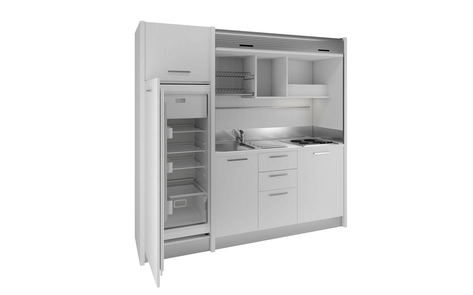 Gallura - Cucina monoblocco a scomparsa 222cm con serranda, grande ...