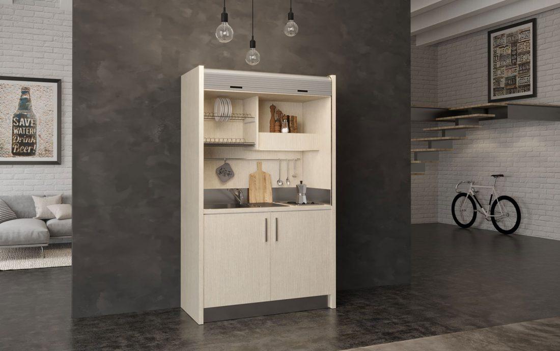 Salento - mini cucina con chiusura serranda in 1 metro e mezzo