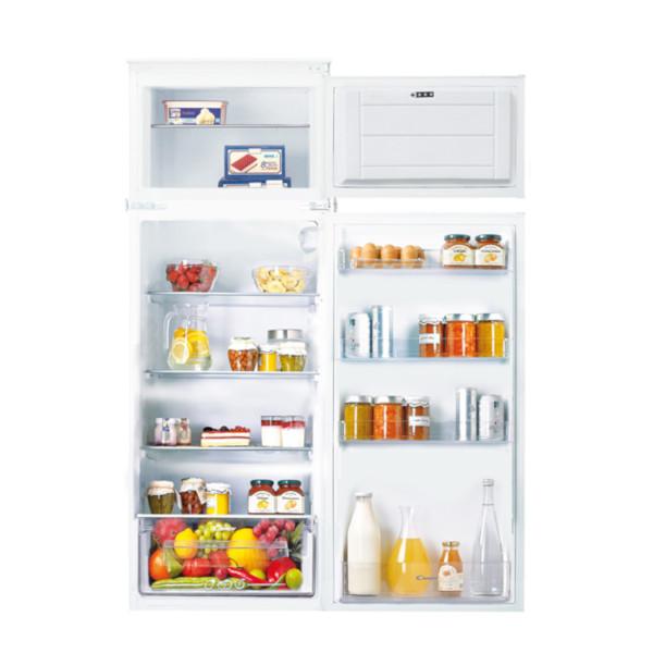 Valdarno – Cucina monoblocco a vista 222cm con grande frigo e piano 4 fuochi