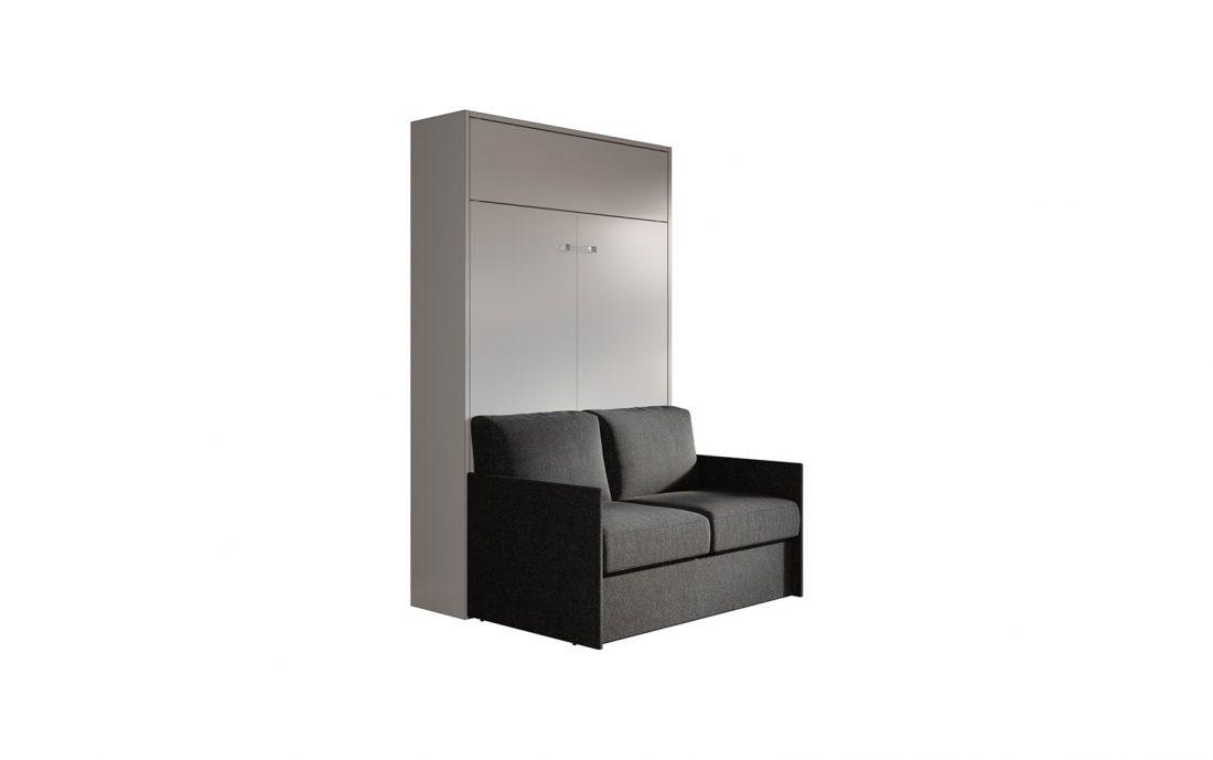 Letto a scomparsa con divano automatico per stanza in affitto e seconda camera
