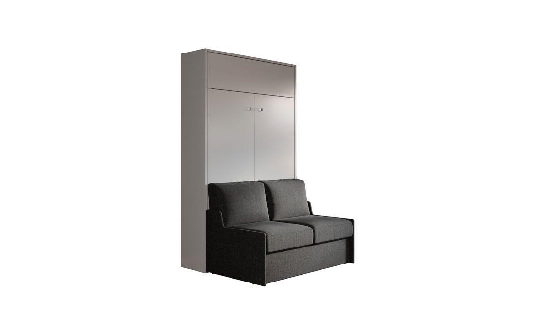 Letto richiudibile verticale con divano salva spazio a movimento automatico