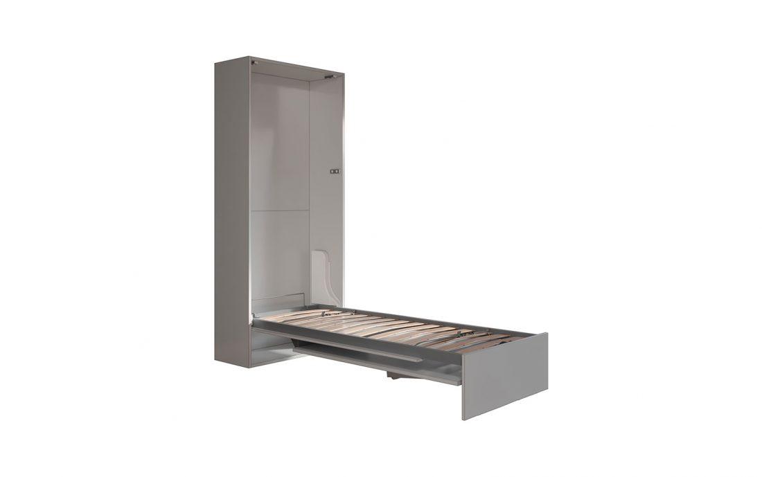 Letto singolo a scomparsa con tavolino ideale per camera in affitto o monolocale