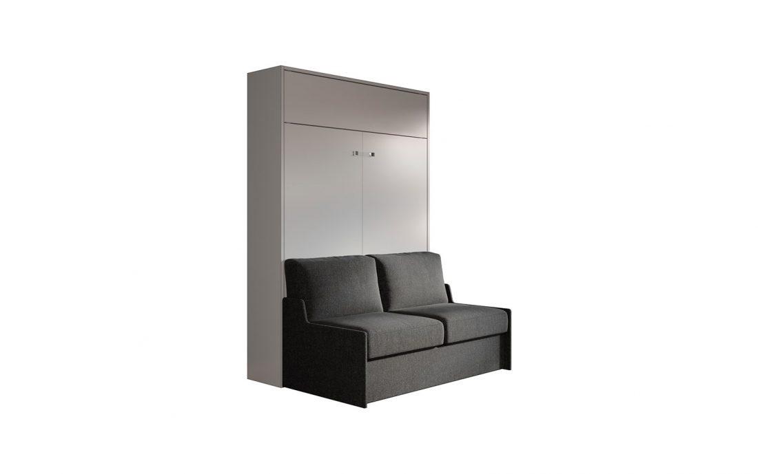 Letto alla francese a scomparsa con divano per monolocali e mini appartamenti