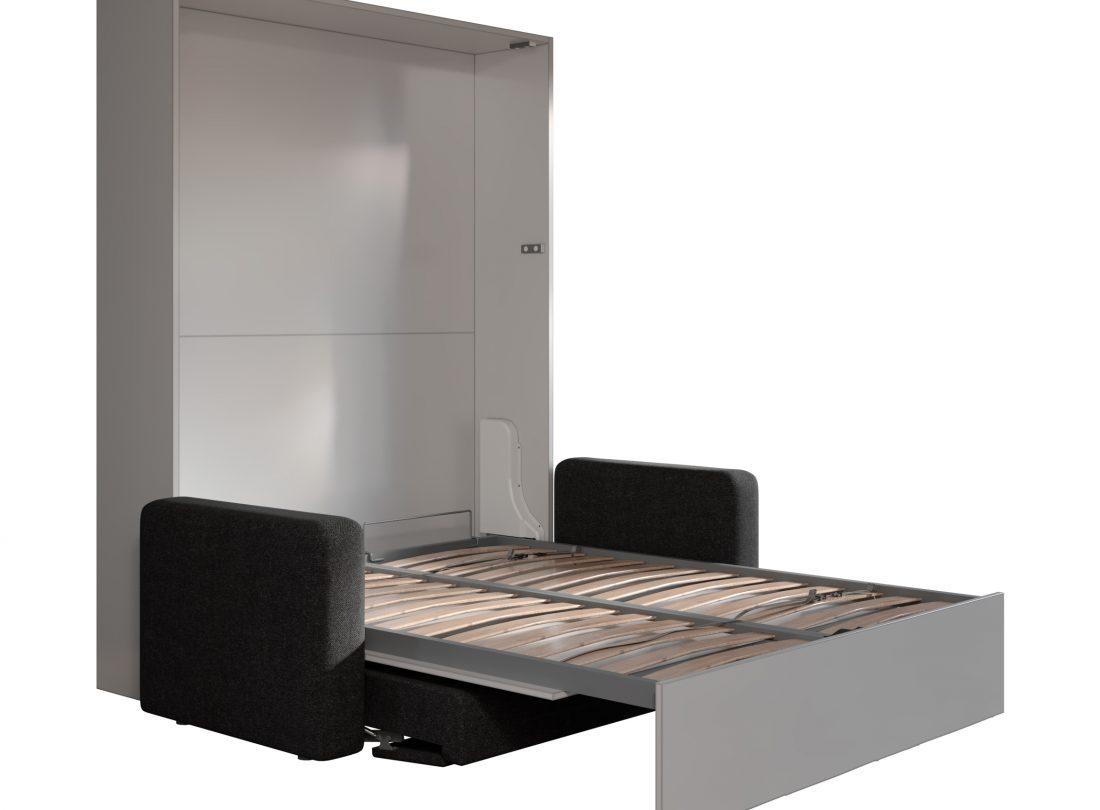 Mobile divano letto matrimoniale automatico adatto a monolocale per coppie