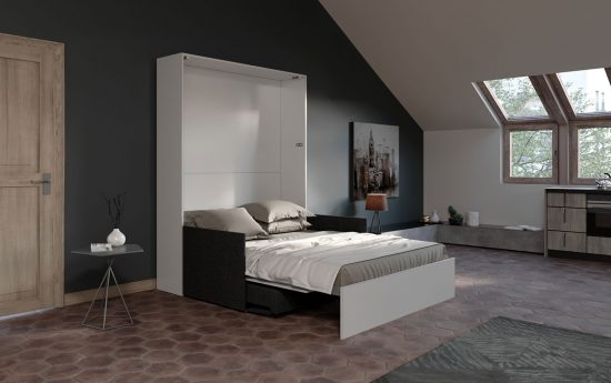 Aria Sofa 160 Slim - Letto matrimoniale a scomparsa con divano automatico  moderno