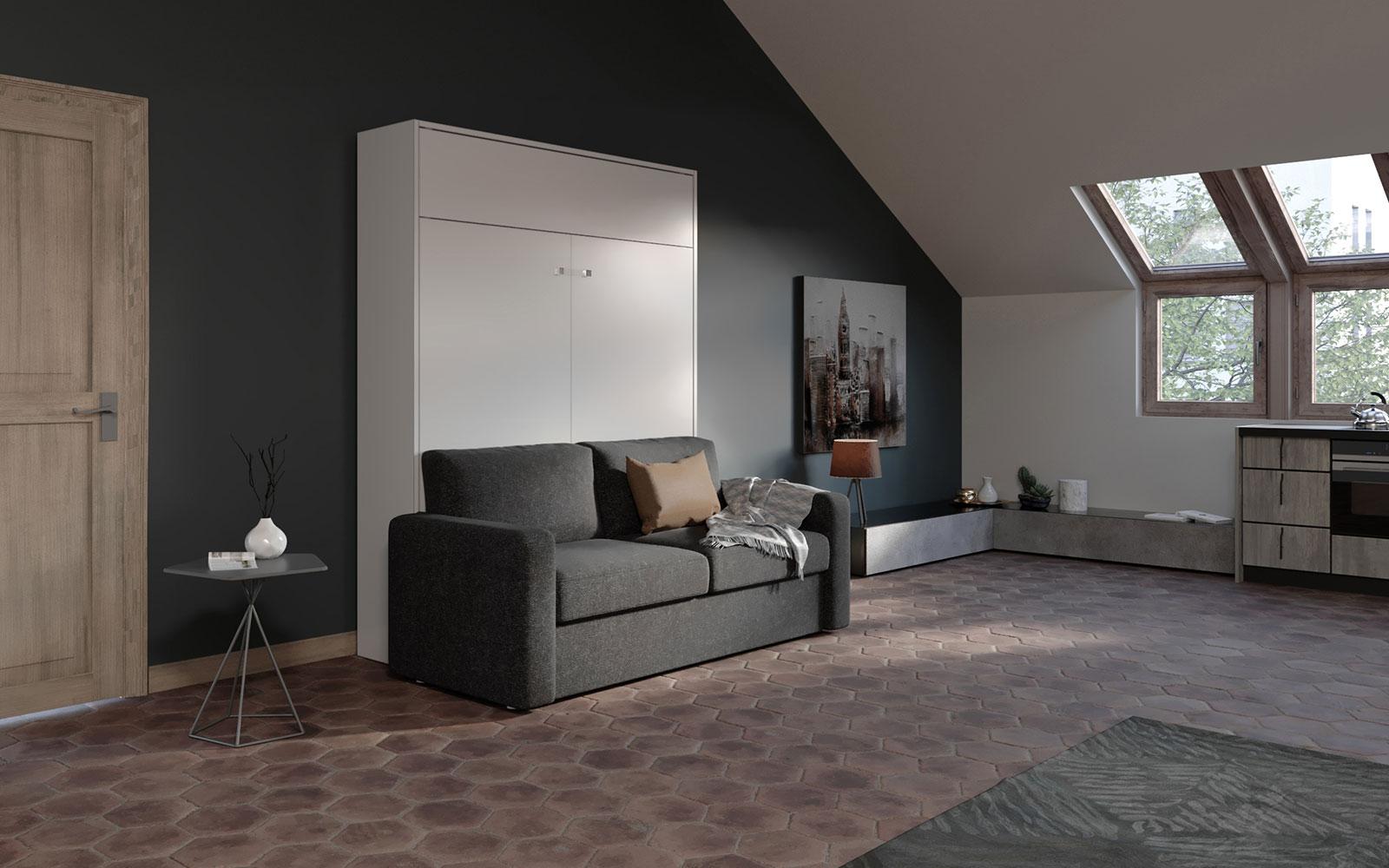 Divano Comodo Per Dormire aria sofa 160 big - letto a scomparsa matrimoniale con divano automatico  classico