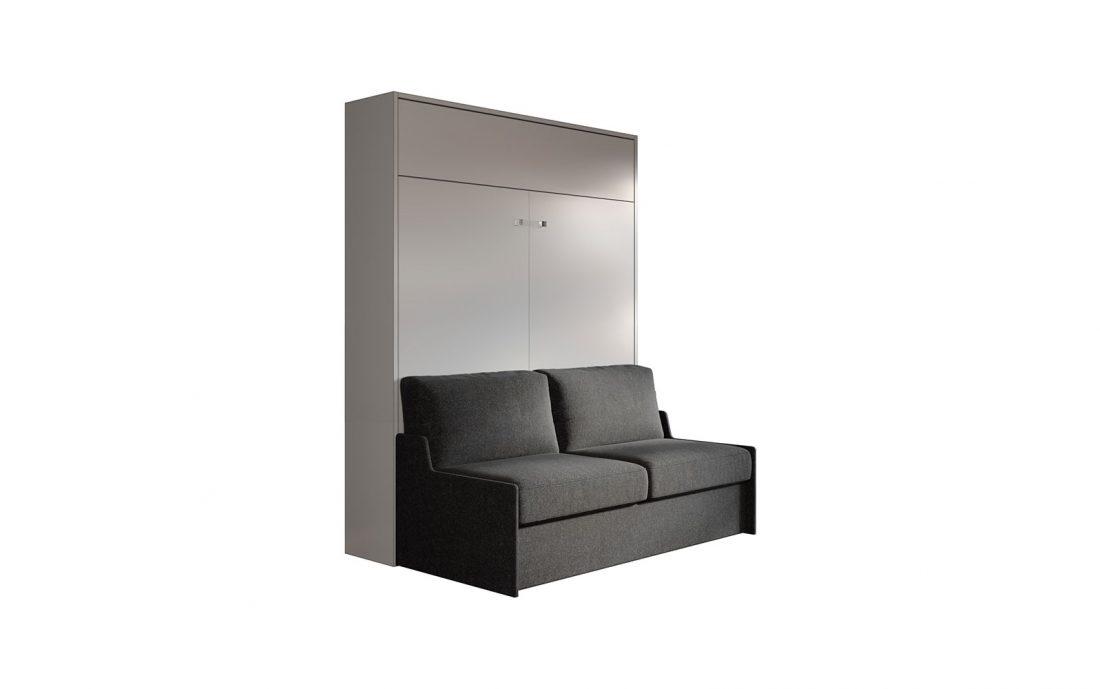 Mobile letto matrimoniale con divano automatico e movimento facilitato