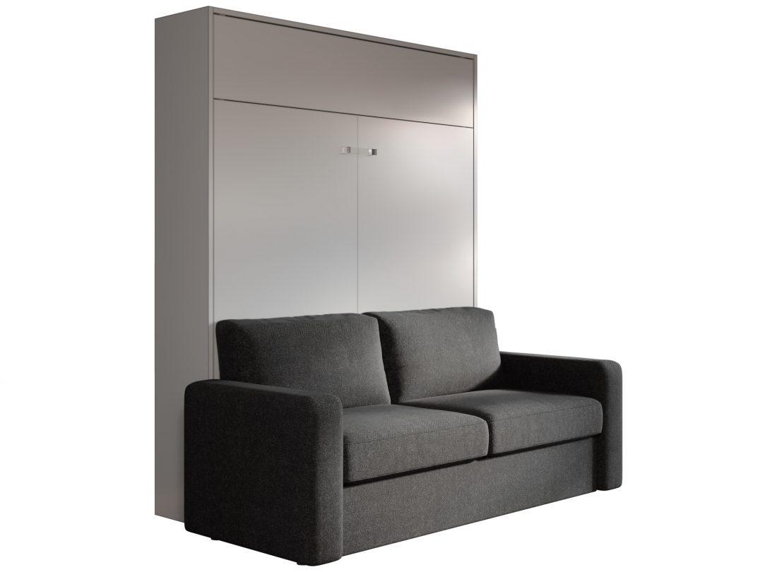 Mobile letto matrimoniale con divano per mini appartamento moderno di design