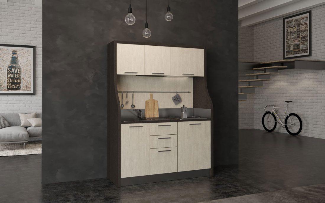 Cucina monoblocco completa ideale per residence di montagna