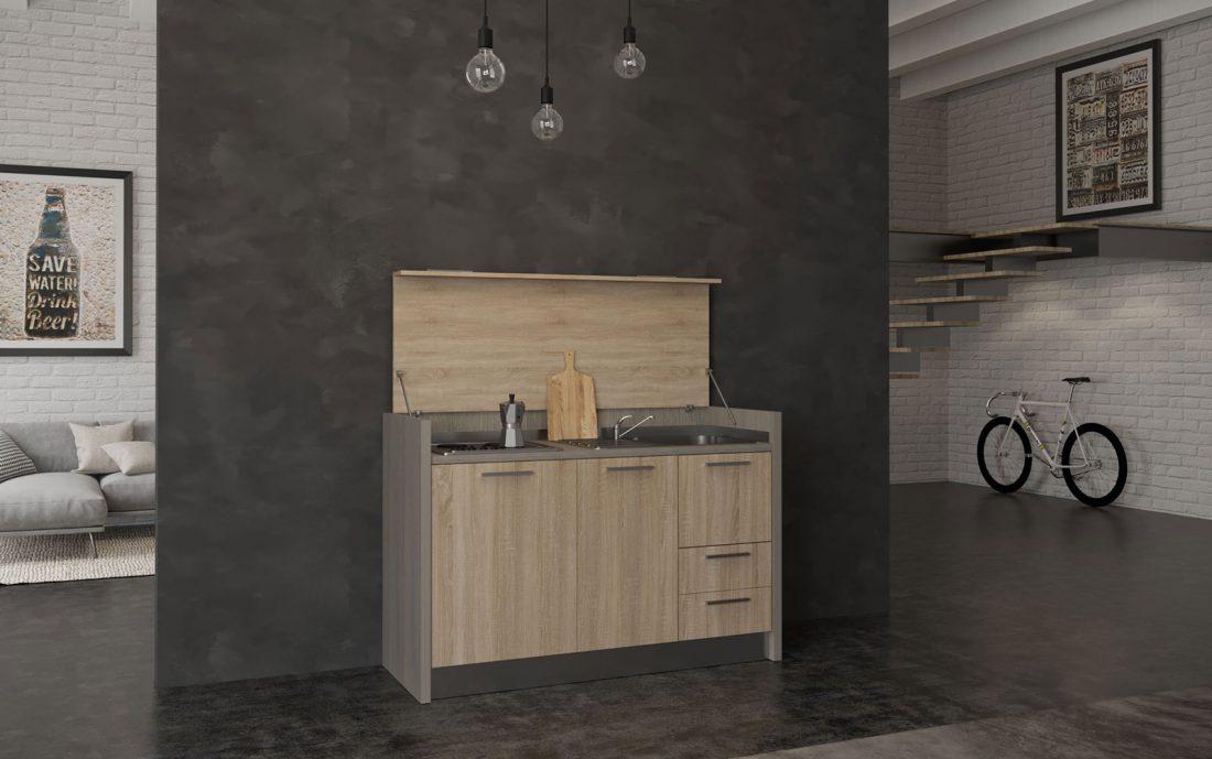 Cilento è una cucina che si nasconde in un mobile da 1 metro e 60