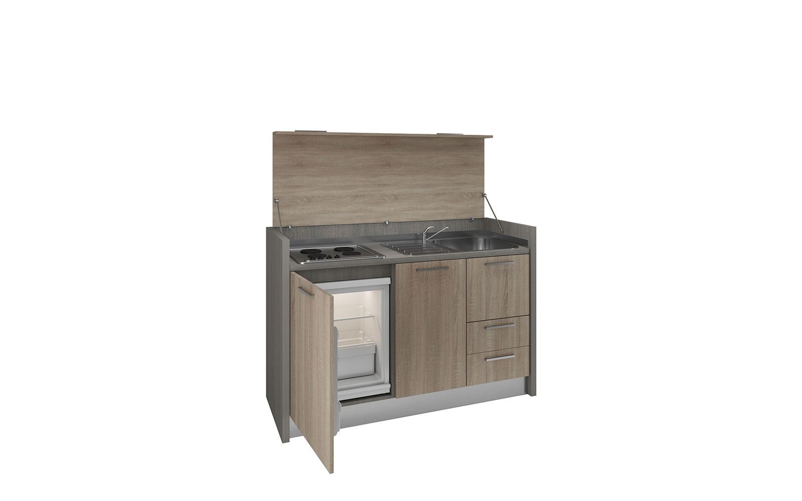 Cilento - Mobile cucina a scomparsa con piano 4 fuochi ...